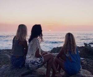 beach, friends, and best friends image