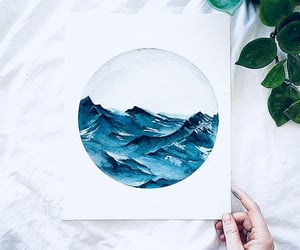 aquarell, lovely, and waves image