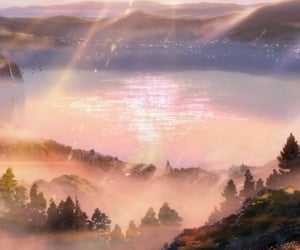 anime, mountains, and your name image