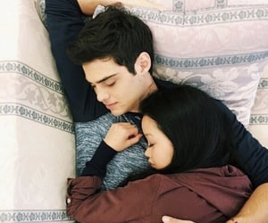 peter, lara jean, and lana condor image