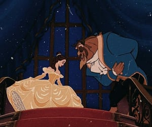beauty and the beast, lové, and disney image