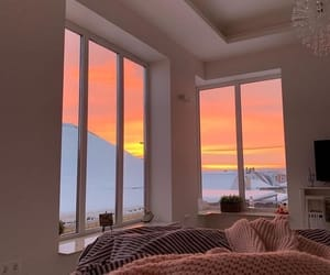 sunset, home, and room image