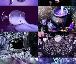 witch, purple, and magic image