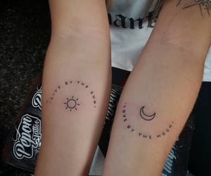 girl, indie, and moon image