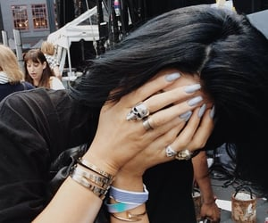 kylie jenner, nails, and hair image
