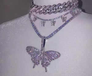 butterfly, aesthetic, and jewelry image