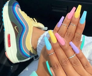 nails, shoes, and nike image