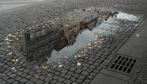 buildings, city, and reflection image