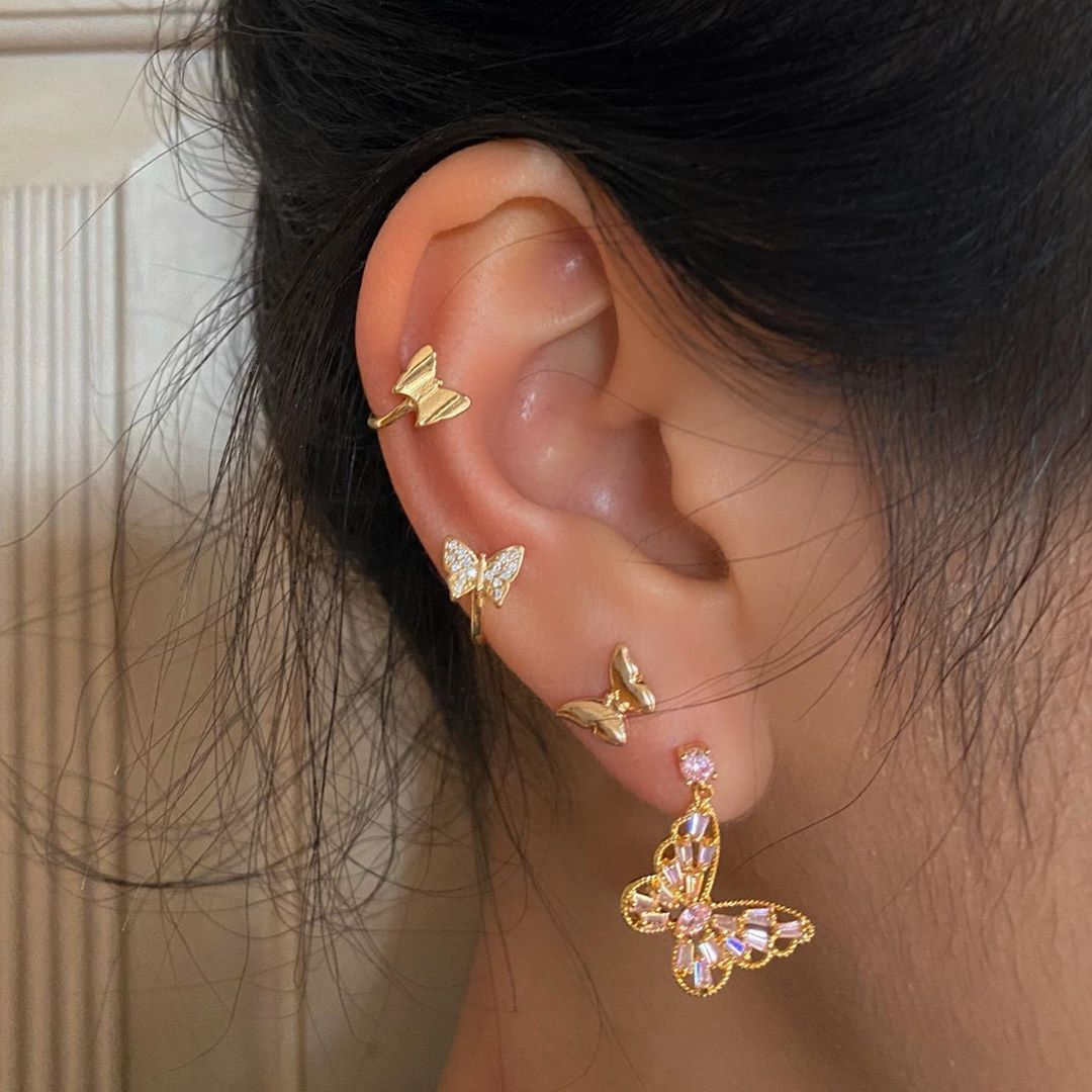 accessories, butterfly, and earrings image