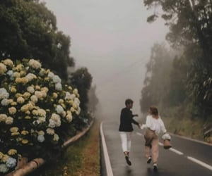 love, couple, and road image