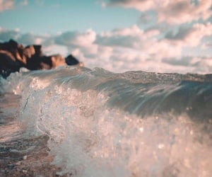 waves, aesthetic, and beach image