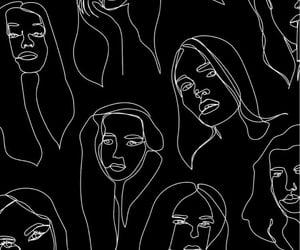 wallpaper, black, and girl image