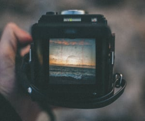 film, sea, and filmphotography image