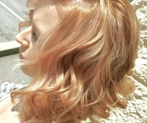 blonde hair, hair, and strawberry blonde image