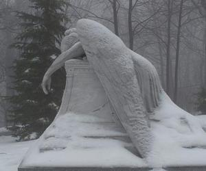 angel, snow, and sad image