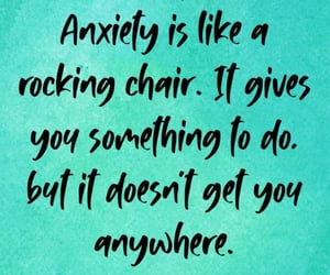 anxiety, mental health, and words image