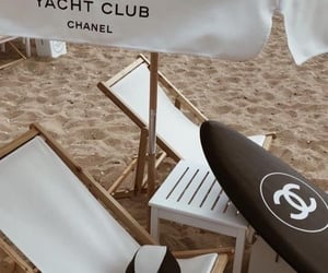 beach, chanel, and vintage image