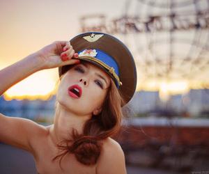 girl and pilot image