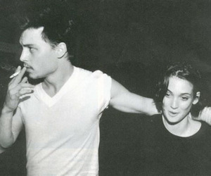 johnny depp, winona ryder, and couple image