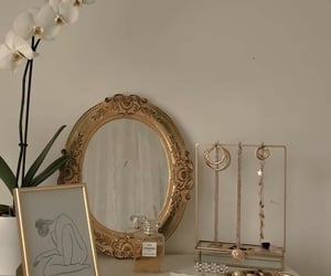 aesthetic, beige, and gold image