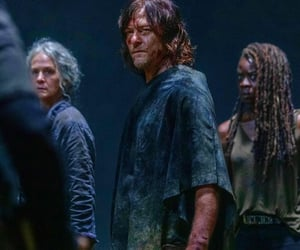 carol, michonne, and norman reedus image