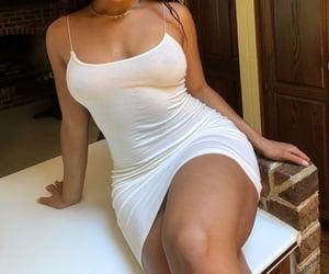 black girl, dress, and curvy image