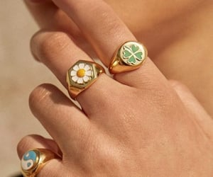 accesories, flower, and hippie image