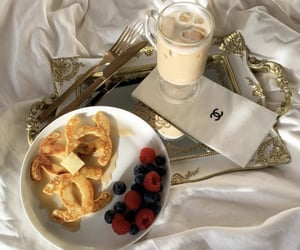 chanel, breakfast, and coffee image