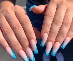 acrylics, blue, and nails image