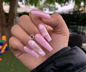 acrylics, nails, and pink image