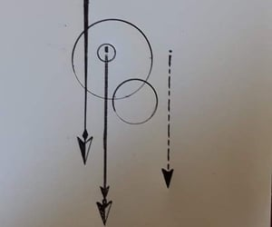 arrows, drawing, and tattoo design image