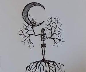 art, black, and creepy image