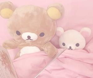 kawaii, pink, and plushies image