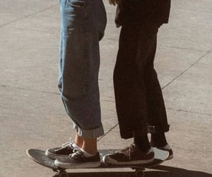 couple, skate, and vintage image