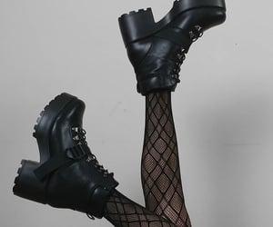 aesthetic, fishnet stockings, and girl image