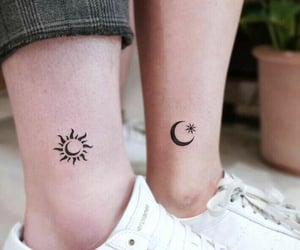 friendship, moon, and sun image