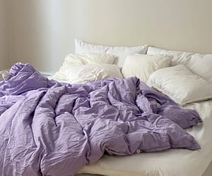 purple, bed, and aesthetic image