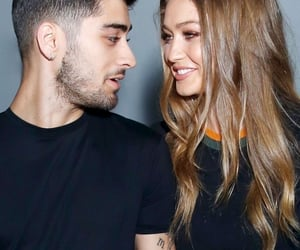 model, zayn malik, and gigi hadid image