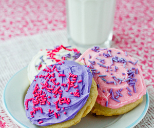 pink, food, and milk image