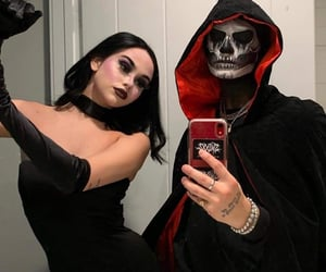 couple, Halloween, and maggie lindemann image