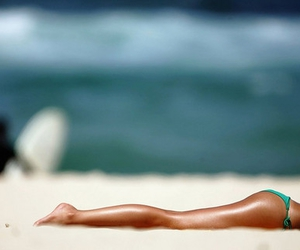 beach, sexy, and tan image