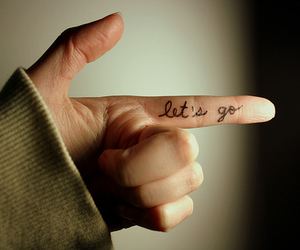 let's go, tattoo, and go image
