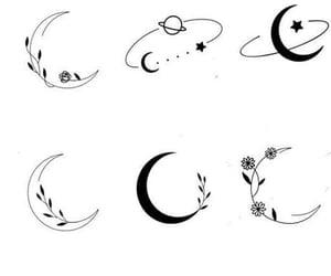 art, moon, and Tattoos image