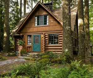 architecture, cozy, and cabin image