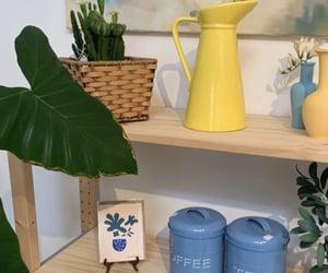 Bleu, flowers, and meuble image