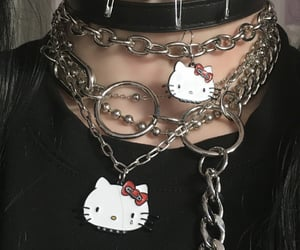 chain, edgy, and emo image