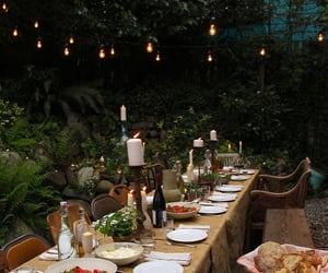 backyard, dinner, and events image