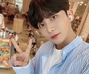 black hair, yunho, and light blue shirt image