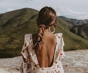 art, long hair, and travel image