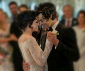 selena gomez and Harry Styles image
